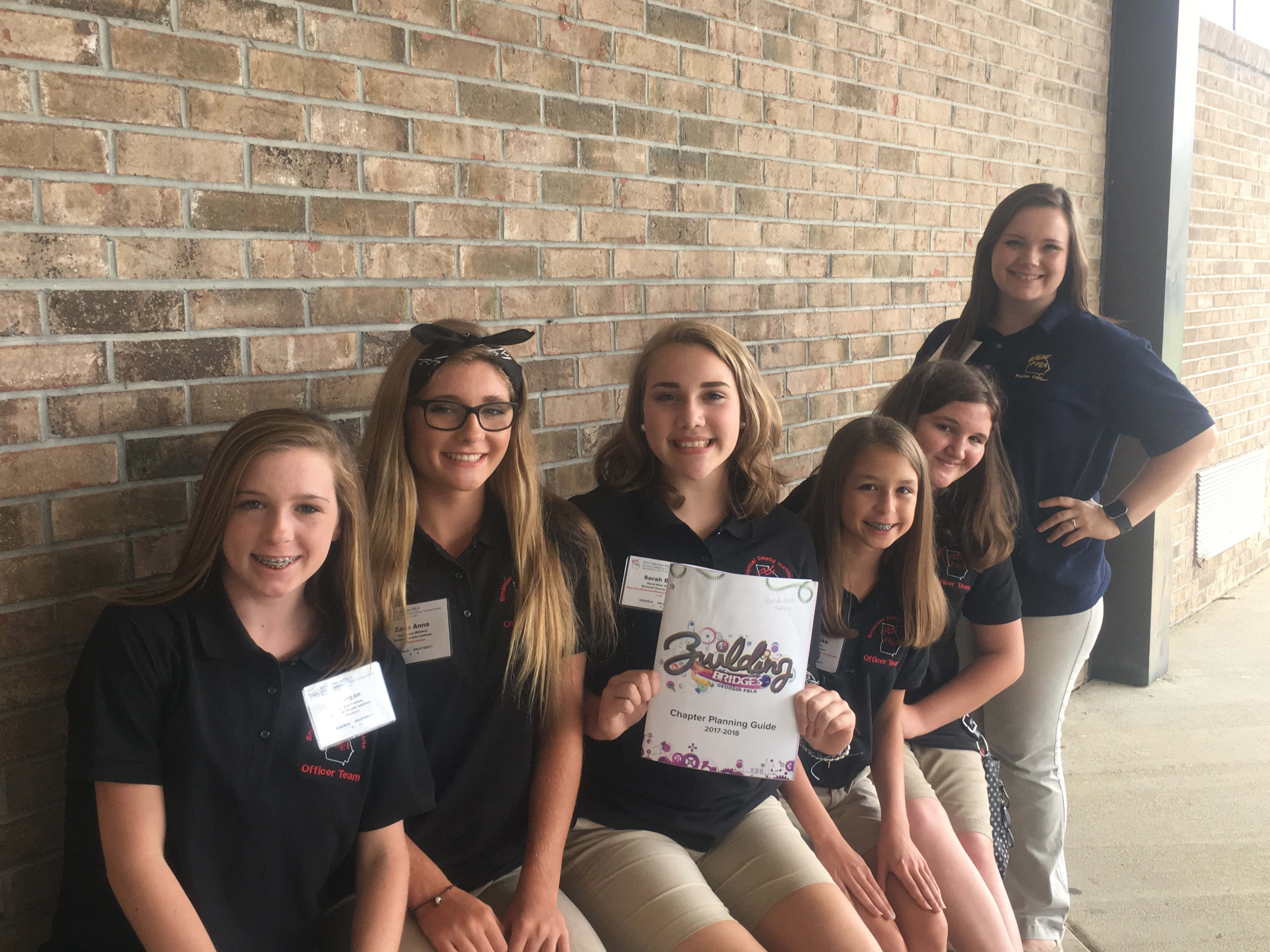 Pictured (L to R) Morgan Rehberg, Zade Anna Williford, Sarah Beth Kersey, Kati-Brooke Hooks, Breana Librizzi, and MacKayla Oglesby.  Not pictured: Calissa Mason, Kendra Pierce, Caroline Kraus, and Jenna Hinson.